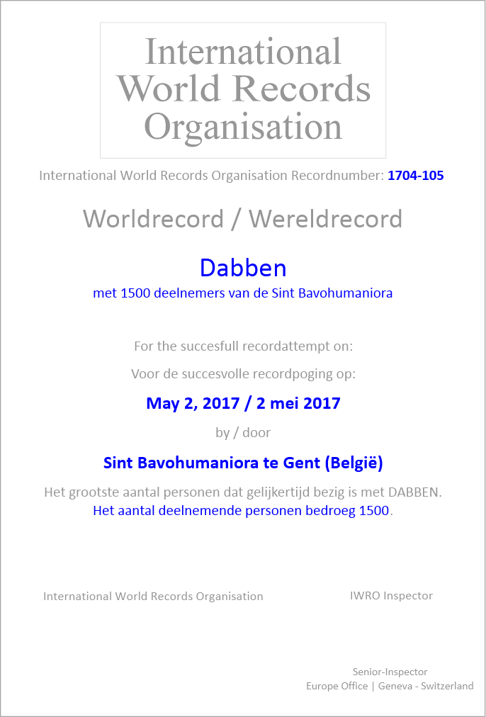 Registratie van uw record in het Records Register