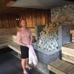 De Wereldkampioen in zijn sauna